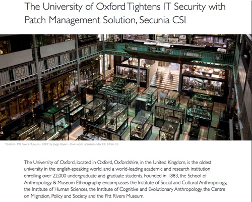 Oxford University, internet security